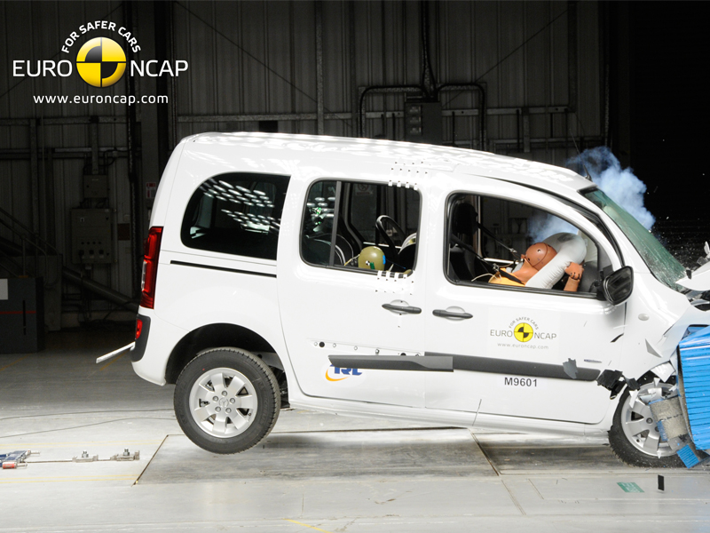 Mercedes Benz Citan - Frontal crash test 2013