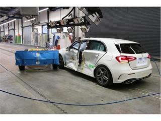 Mercedes-Benz A Class - Side crash test 2018 - after crash