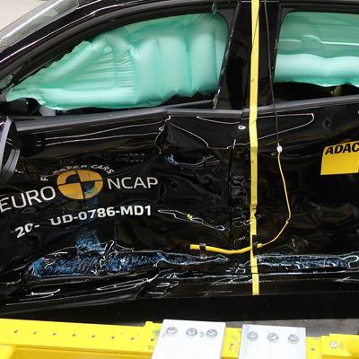 Audi A3 - Side Mobile Barrier test 2020 - after crash