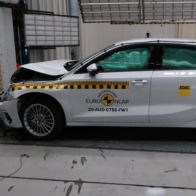 Audi A3 - Full Width Rigid Barrier test 2020 - after crash