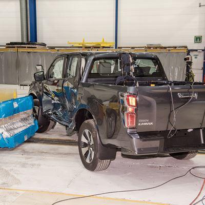 Isuzu D-Max - Side Mobile Barrier test 2020 - after crash