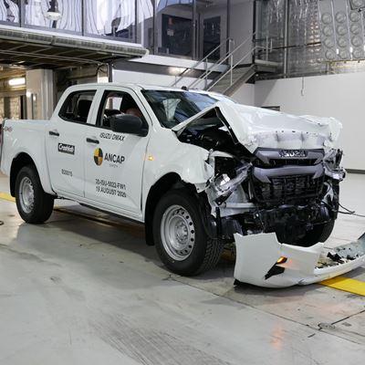 Isuzu D-Max - Full Width Rigid Barrier test 2020 - after crash