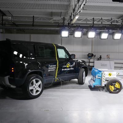 Land Rover Defender - Side Mobile Barrier test 2020 - after crash
