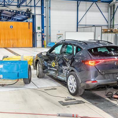 Cupra Formentor - Side Mobile Barrier test 2021 - after crash