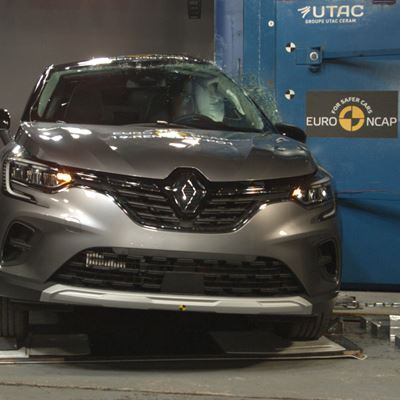 Renault Captur - Pole crash test 2019