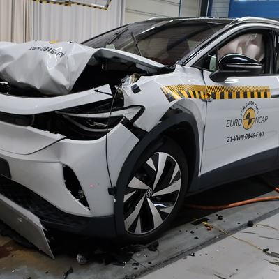 VW ID.4 - Full Width Rigid Barrier test 2021 - after crash