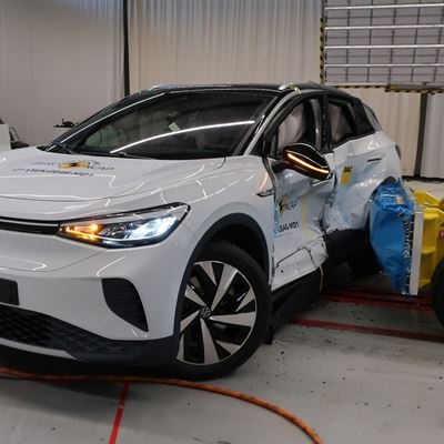 VW ID.4 - Side Mobile Barrier test 2021 - after crash