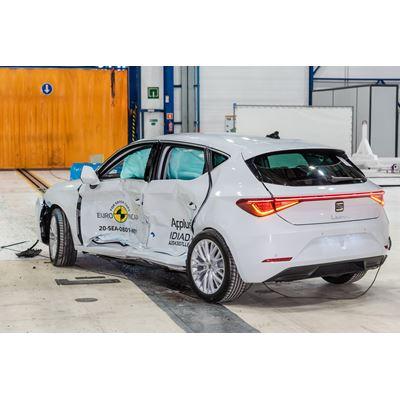 SEAT Leon - Side Mobile Barrier test 2020 - after crash