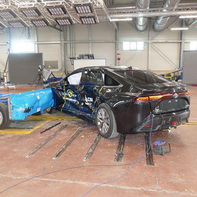 Toyota Mirai - Side Mobile Barrier test 2021 - after crash