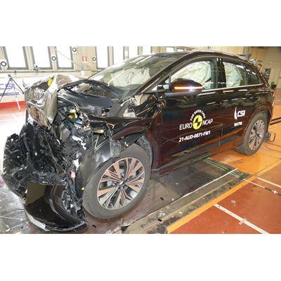 Audi Q4 e-tron - Full Width Rigid Barrier test 2021 - after crash