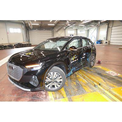 Audi Q4 e-tron - Side Mobile Barrier test 2021 - after crash