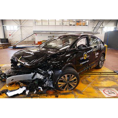 Audi Q4 e-tron - Mobile Progressive Deformable Barrier test 2021 - after crash