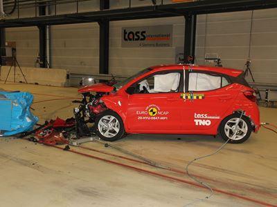 Hyundai i10 - Mobile Progressive Deformable Barrier test 2020 - after crash