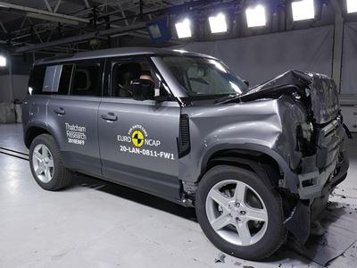 Land Rover Defender - Full Width Rigid Barrier test 2020 - after crash