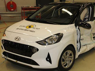 Hyundai i10 - Side Mobile Barrier test 2020 - after crash