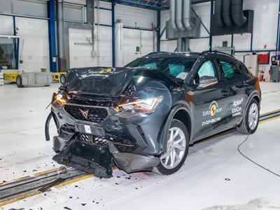 Cupra Formentor - Full Width Rigid Barrier test 2021 - after crash