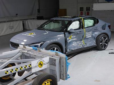 Polestar 2 - Side Mobile Barrier test 2021 - after crash