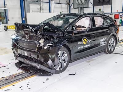 Škoda ENYAQ iV - Full Width Rigid Barrier test 2021 - after crash