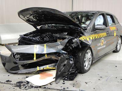 Mercedes-Benz B-Class - Frontal Offset Impact test 2019 - after crash