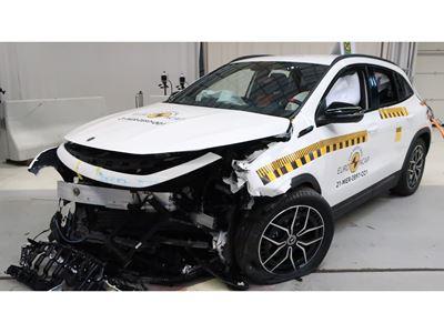 Mercedes-EQ EQA - Frontal Offset Impact test 2019 - after crash