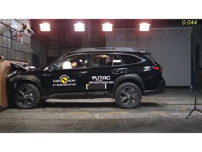 Subaru Outback - Full Width Rigid Barrier test 2021