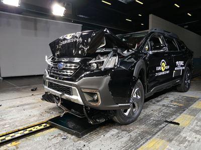 Subaru Outback - Full Width Rigid Barrier test 2021 - after crash