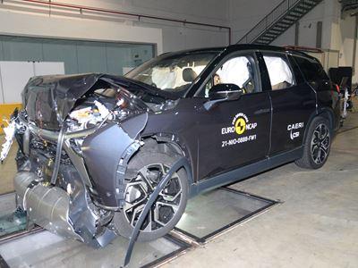 NIO ES8 - Full Width Rigid Barrier test 2021 - after crash
