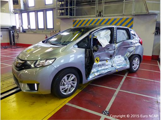 Honda Jazz - Side crash test 2015 - after crash