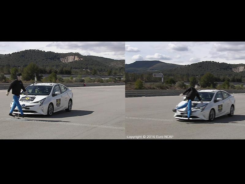 Toyota Prius - AEB Pedestrian test 2016