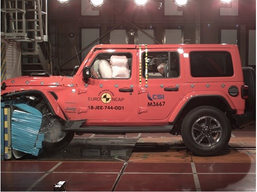 Jeep Wrangler - Frontal Offset Impact test 2018