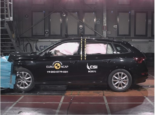 Skoda Scala - Frontal Offset Impact test 2019
