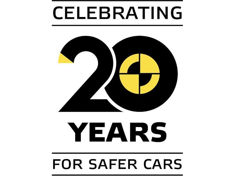 euro ncap newsroom euro ncap 20th anniversary logo euro ncap 20th anniversary logo
