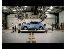 Preparation & test of the Nissan LEAF, 1st EV reaching Euro NCAP 5 stars