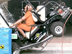 CLUB CAR Villager - Crash Tests 2014 - with captions