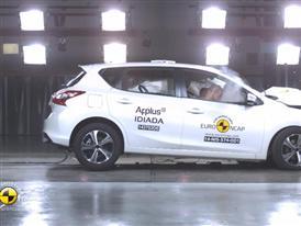 Nissan Pulsar - Crash Tests 2014 - with captions