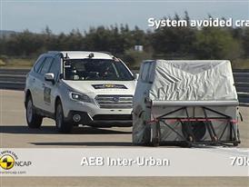 Subaru Outback  - AEB Test 2014
