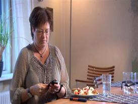 Woman taking insulin