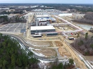 Production site, Clayton, US, under construction, January 2018