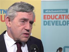 Interview with the United Nations Special Envoy for Global Education Gordon Brown about global education.