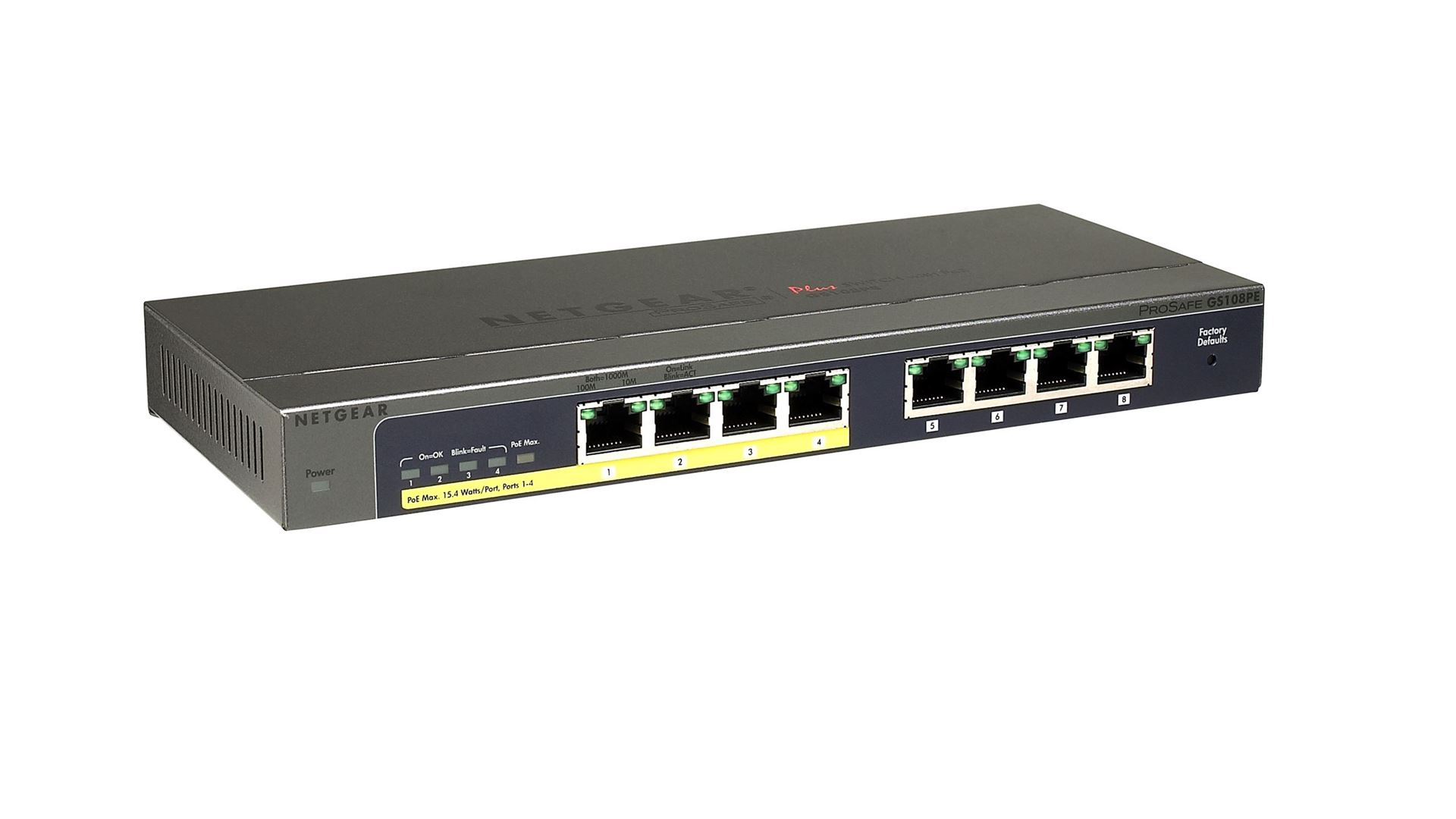 8-Port Gigabit Ethernet PoE Smart Managed Plus Switch with 4 PoE Ports (53W) - Right