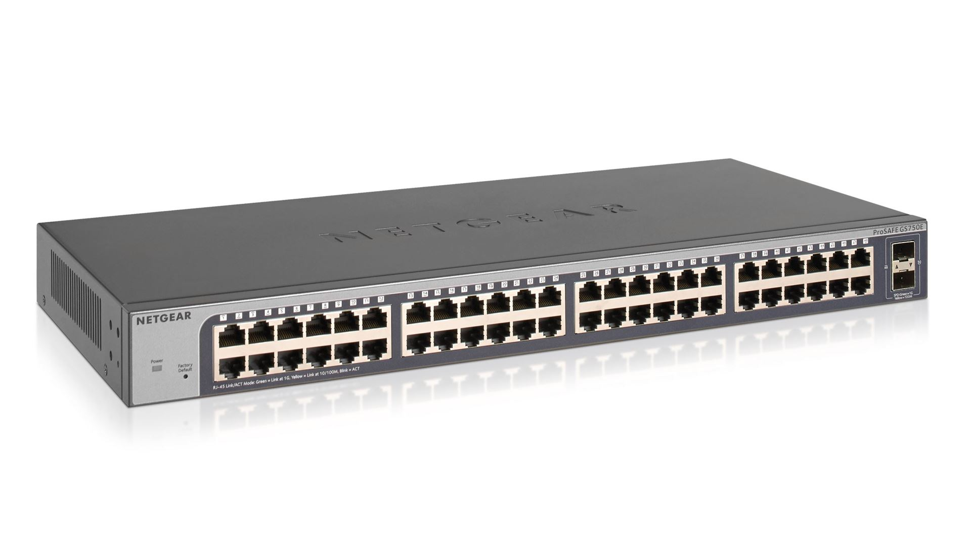 48-port Gigabit Ethernet Smart Managed Plus Switch with 2 SFP Ports (GS750E)