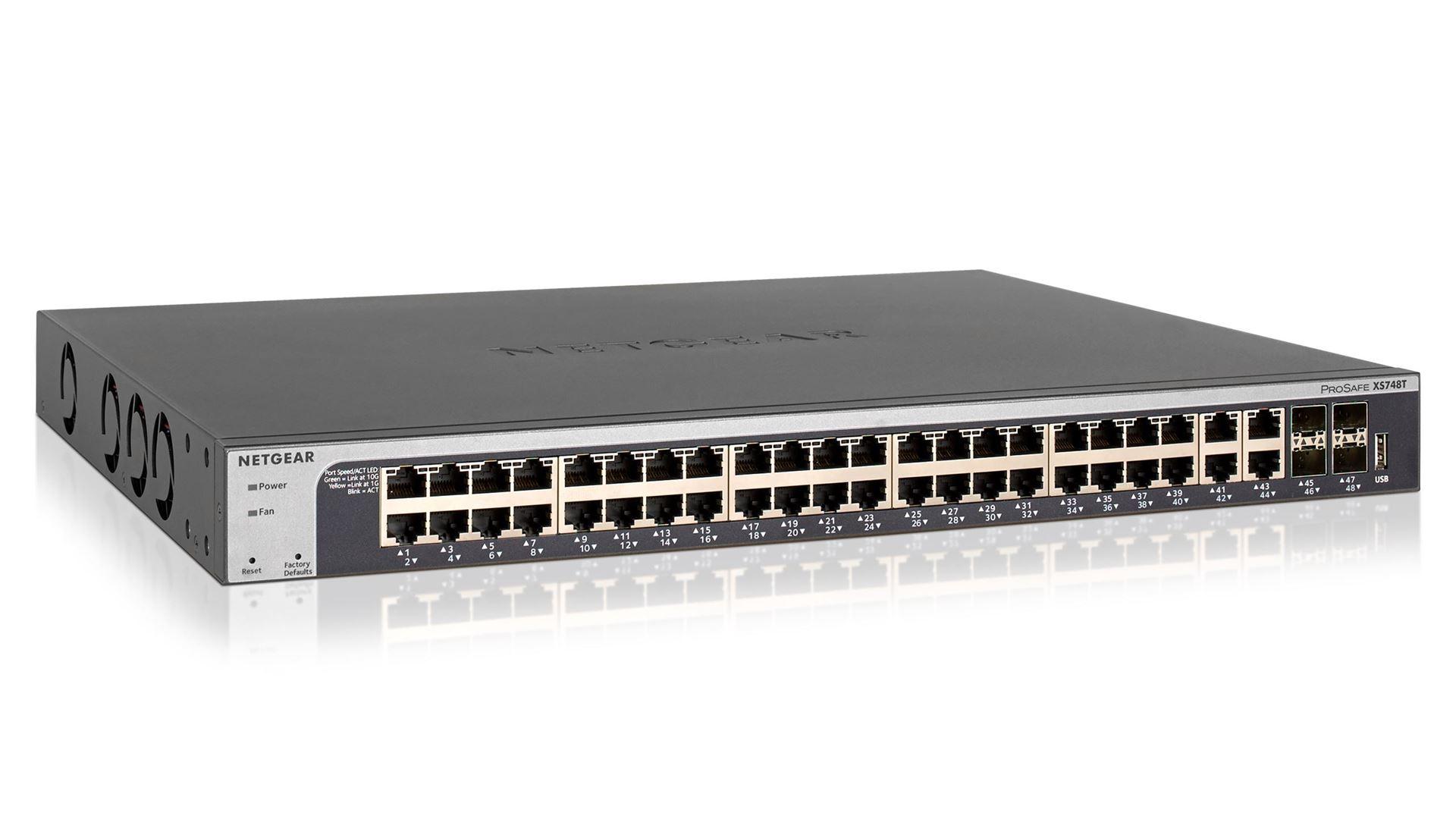 ProSAFE® XS748T 48-Port 10-Gigabit Ethernet  Smart Managed Switch (XS748T)