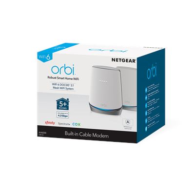 Orbi™ Whole Home WiFi 6 System with DOCSIS® 3.1 Built-in Cable Modem (3)