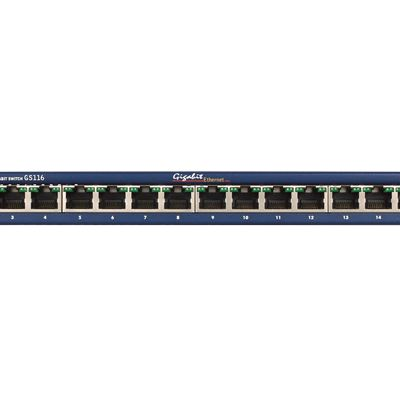 16-Port Gigabit Ethernet Unmanaged Switch GS116 - Front