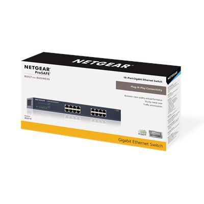 ProSafe® 16-port Gigabit Ethernet Switch (JGS516v2) - 3DBOX
