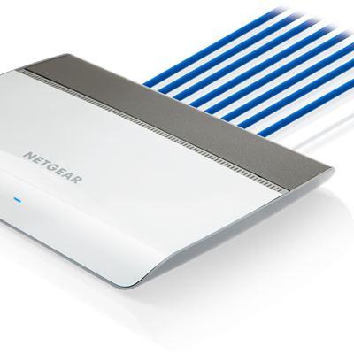 8-port Gigabit Ethernet Signature Smart Managed Plus Gigabit Switch with Cable Management  - Cables