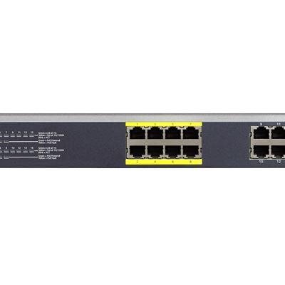 16-Port Gigabit Ethernet PoE Smart Managed Plus Switch with 8 PoE Ports (85W) - JGS516PE - Front