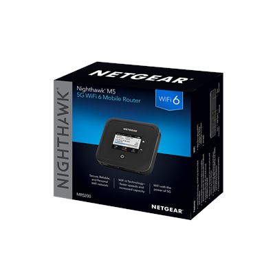 Nighthawk M5 5G WiFi 6 Mobile Router (MR5200) - 3D Box