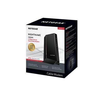 NETGEAR Nighthawk 2.5Gbps Internet Speed Cable Modem (CM2000)