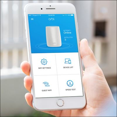 Orbi WiFi System with Advanced Cyber Threat Protection- 3 Pack